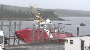 Few leads as sabotaged Canadian Coast Guard vessel remains unrepaired in Nova Scotia